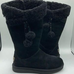 UGG Plumdale Black Suede Water Resistant Boots